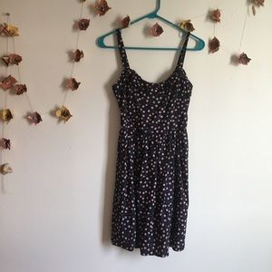 Blue mini dress with cherries 🍒 Modcloth